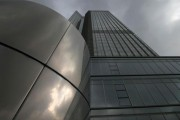 General view of the headquarters of the European Central Bank (ECB) in Frankfurt October 26, 2014.