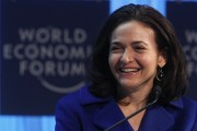 Facebook's Chief Operating Officer (COO) Sandberg attends a session at the World Economic Forum (WEF).