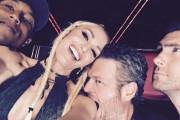 Gwen Stefani with Blake Shelton at The Voice