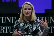 Yahoo president and CEO Marissa Mayer speaks during the Fortune Global Forum