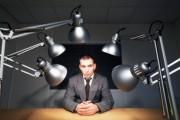 Man being interrogated.