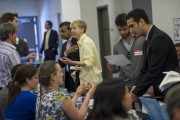 Inside A Job Fair As Initial Jobless Claims in U.S. Decline More Than Forecast