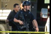 LOS ANGELES, CALIFORNIA., AUGUST 18, 2014: Los Angeles Police Department SWAT officers