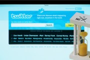 Twitter website and hourglass