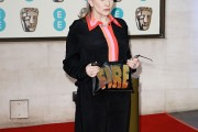 Carrie Fisher at EE British Academy Film Awards After Party Dinner - Red Carpet Arrivals