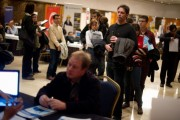 Job Seekers Attend Job Fair
