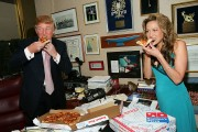 Donald Trump Receives Domino's Pizza Delivery