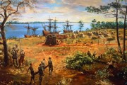 Early Pioneers In Jamestown Fort