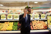 President Barack Obama At Kroger's Supermarket