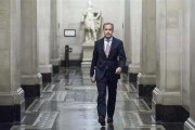 Mark Carney, the governor of the Bank of England, walks to a monetary policy committee (MPC) briefing on his first day inside the central bank's headquarters in London July 1, 2013.  Credit: REUTERS/J