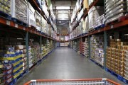 The warehouse style of shopping is shown inside a Costco store in Carlsbad, California February 28, 2012.