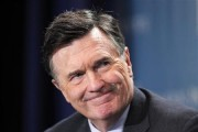 Dennis Lockhart, President, Federal Reserve Bank of Atlanta, takes part in a panel discussion titled ''Twist and Shout: The Limits of U.S. Monetary Policy'' at the Milken Institute Global Conference i