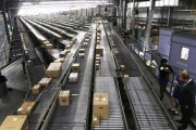 Conveyors are seen at a Wal-Mart Stores Inc distribution centers in Bentonville, Arkansas June 6, 2013.