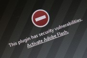 A web browser blocks Adobe Flash due to a security issue
