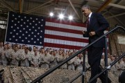U.S. President Barack Obama walks out after speaking at Marine Corps Base-Camp Pendleton in California, August 7, 2013. Credit: Reuters/Larry Downing