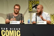 Warcraft movie director Duncan Jones and actor Travis Fimmel