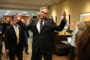 Former Florida Governor And Presidential Candidate Jeb Bush Campaigns In Iowa