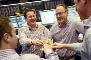 Frankfurt Stock Exchange Celebrates End Of 2012