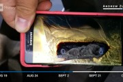 A Samsung Galaxy Note 7 that has exploded