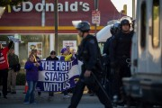 Workers Across The Country Demonstrate For Higher Minimum Wage