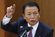 Japan's Finance Minister Taro Aso speaks during a semi-annual parliament hearing on monetary policy at the Lower House of the parliament in Tokyo June 19, 2013. Credit: Reuters/Issei Kato