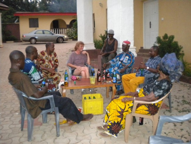 Ann-Perry Witmer Meets with Village Elders in Adu Achi, Nigeria (IMAGE)