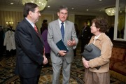 Monster Worldwide (from left) Monster CEO Sal Iannuzzi, U.S. Senator Joe Manchin, and Acting U.S. Commerce Secretary Rebecca Blank at Monster and Military.com's National Veteran Employment Summit in W